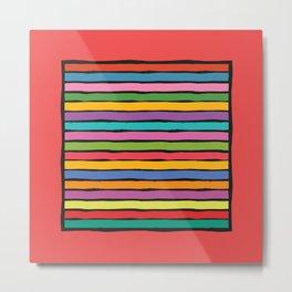 dp203-1B Colorful Stripes Metal Print