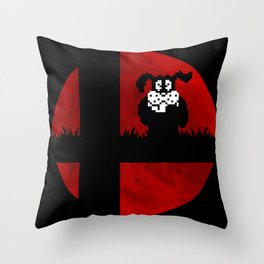 Smash and Laugh (red) Throw Pillow