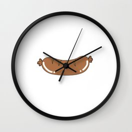 Funny & Cute Weiner Tshirt Designs Look at my weiner Wall Clock