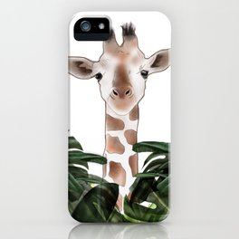 Giraffe above the trees iPhone Case