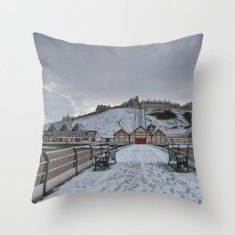 Saltburn by the Sea Throw Pillow