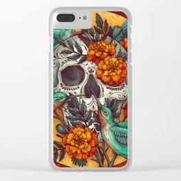 Dia de los Muertos Clear iPhone Case