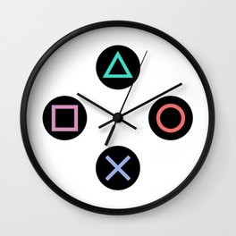 Play with Playstation Controller Buttons Wall Clock