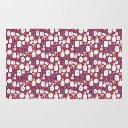 Alice in Wonderland - pattern on purple Rug