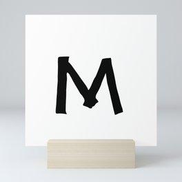 M Monogram (Hand 2) Mini Art Print