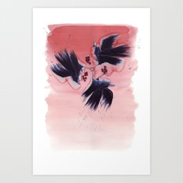 Ombre Ravens Art Print