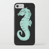 sea horse iPhone & iPod Cases featuring SEA HORSE by Matthew T. Wilson