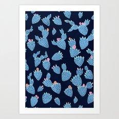 Flowering Cacti Art Print