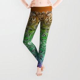 Drawing Floral Zentangle G206 Leggings