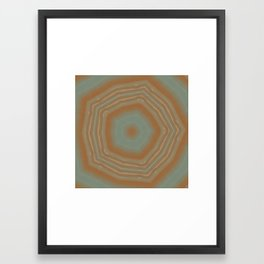 Geode Abstract:  Geometric Nature Pattern in Rust Red and Stone Grey 3 Framed Art Print