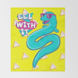Eel With It Throw Blanket