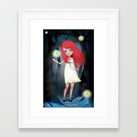 firefly Framed Art Prints featuring Firefly by solocosmo