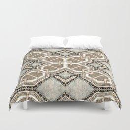 Victorian Art Deco Medieval Pattern light gray SB27 Duvet Cover
