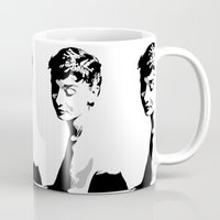 audrey hepburn Mugs featuring Audrey Hepburn by Geryes