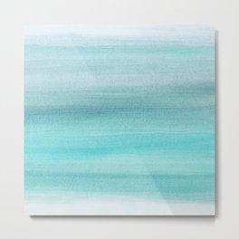 Aqua Blue Watercolor Dream #1 #painting #decor #art #society6 Metal Print