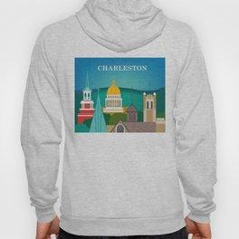Charleston, West Virginia - Skyline Illustration by Loose Petals Hoody