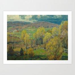 Budding Maples by John F. Carlson (1874-1945) Art Print