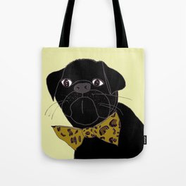 Jasper is in your Closet, Wearing your Leopard-Print Bow tie Tote Bag