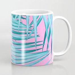 Palm Leaves Pink Blue Vibes #1 #tropical #decor #art #society6 Coffee Mug