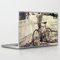 bike Laptop & iPad Skins featuring bike  by Beverly LeFevre