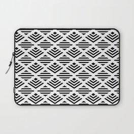 LUNA DIAMOND BLCK AND WHITE BY SUBGRL Laptop Sleeve