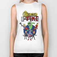 avenger Biker Tanks featuring Avenger Time by MattHercock