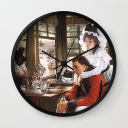 James Jaques Tissot Bad News The Parting 1872 Wall Clock
