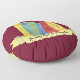 Jane Austen's Novels III Floor Pillow