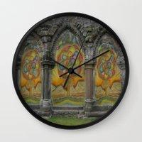 doors Wall Clocks featuring Doors by Nicholas Bremner - Autotelic Art