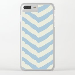 Chevron   Blue & Ivory Clear iPhone Case