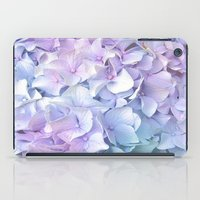 pastel iPad Cases featuring Soft Pastel Hydrangea by Judy Palkimas