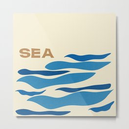A, B, SEA Metal Print