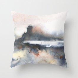 Power Play at Split Rock Lighthouse Throw Pillow