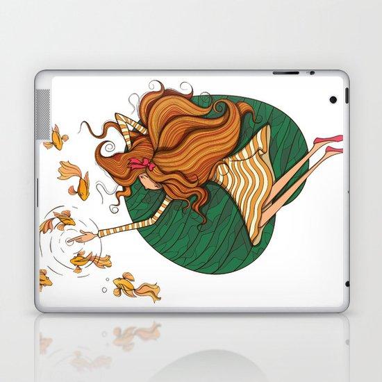 Girl and fish Laptop & iPad Skin