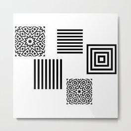 Minimal Black And White Metal Print