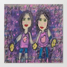Two of Me Canvas Print