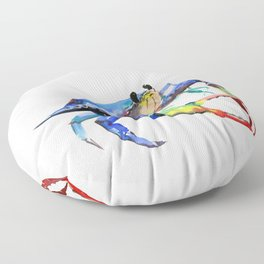 Crab, Sea World Rainbow Colors Beach Floor Pillow