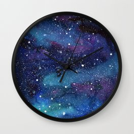 Galaxy Space Painting Stars Cosmic Universe Nebula Art Wall Clock