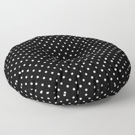White Dots on Black Floor Pillow