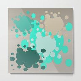 Paint splats in green Metal Print