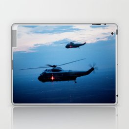 Support Helicopters Fly at Dusk Laptop & iPad Skin