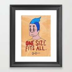 One Size Framed Art Print