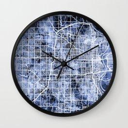 Omaha Nebraska City Map Wall Clock