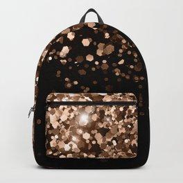 Dark Night Brown Black Glitter #1 (Faux Glitter) #shiny #decor #art #society6 Backpack