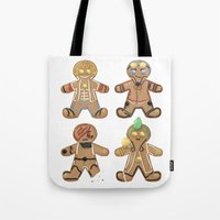 rwby Tote Bags featuring Team SSSN Gingerbread by TheKingKez