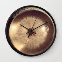 beth hoeckel Wall Clocks featuring Dandelion II by Beth Ann Short by Beth Ann Short