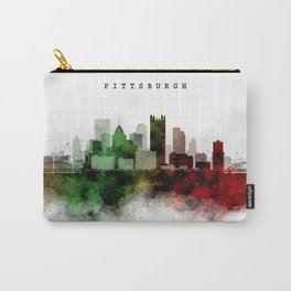 Pittsburgh Watercolor Skyline Carry-All Pouch