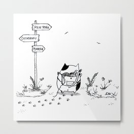 Cat Adventure Metal Print