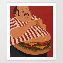 burger man Art Print