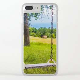 Swingset at the Church, North Dakota 3 Clear iPhone Case